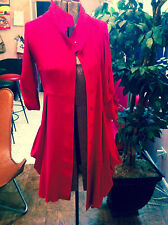 $285 Womens Sz 2 Joseph Ribkoff Red pink Dress Button Front 3/4 Sleeves