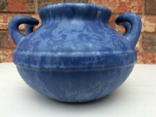 CAMARK POTTERY LARGE EARLY BLUE DRIP ART VASE