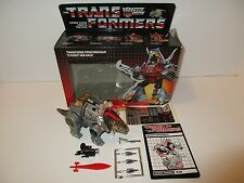 1985 G1 Transformers Dinobot **SLAG** 100% Complete Box MIB Unused Sticker Sheet