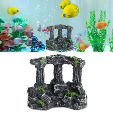 Resin Rome Square Stone Pillars Landscaping Aquarium Fish Tank Decor Tri-Columns