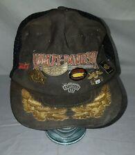 HARLEY DAVIDSON HOG STURGIS AMA BIKER PINS MISC LOT with VINTAGE HAT