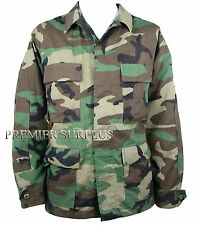 Genuine US Army Woodland Camo BDU Shirt, New Size Medium-Regular, RipStop