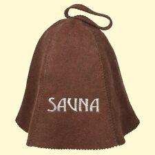 Cappuccio feltro sauna Marrone saunahut Sauna Sauna BERRETTO ha
