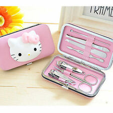 7 Pcs HelloKitty Nail Clipper Set Stainless Steel Manicure Set AA-D612a3