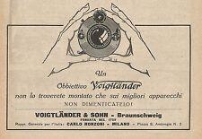 Z0141 Obiettivo fotografico VOIGTLANDER - Pubblicità del 1926 - Advertising