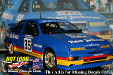 1:18 Glen Seton Ford Sierra Missing Vinyl Decals 1990 Sandown 500 winner Apex