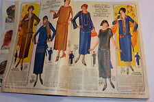 VINTAGE 1924-25 CLOTHING CATALOG! FLAPPER FASHIONS! DRESSES/SHOES/DENIM/BOOTS
