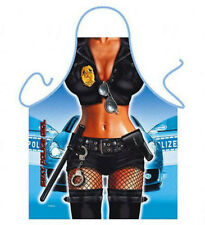 Sexy Police Woman Kitchen Cooking Chef Novelty Funny  Bbq Party Apron Gift UK
