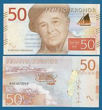 Sweden 50 Kronor P New 2015 UNC Low Shipping! Combine FREE!