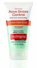 2 Pack - Neutrogena Oil-Free Acne Stress Control Power-Clear Scrub 4.20oz Each