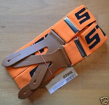 Genuine Stihl Chainsaw Trouser Braces Orange 120cm Buttons 0000 884 1511 Tracked