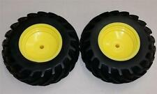 "Pair of ERTL John Deere 1:16 Scale Tractor Tires 4.5"" from 4x4 Wide Duals Custom"