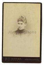 19th Century Fashion - 1800s Cabinet Card Photograph - B.T. Biffar of New York