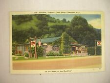 VINTAGE LINEN POSTCARD CHEROKEE CHIEFTAN CRAFT SHOP CHEROKEE NORTH CAROLINA