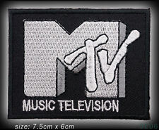 MTV Music Television Embroidered Iron-On / Sew-On Patch - NEW - #5E06