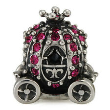 Princess Carriage Genuine Solid Sterling Silver Charm OHM Bead WHD10210