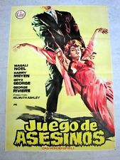 MURDER PARTY Original FILM NOIR CRIME Movie Poster MAGALI NOEL ROBERT GRAF