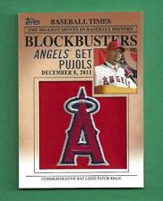 2012 Topps Update Blockbusters Commemorative Hat Logo Patch ALBERT PUJOLS