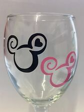 Mickey/Minnie Mouse Vinyl Decal Stickers X 4 Wine Glass Decal