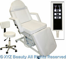 Fully Electric White Massage Facial Table Bed Chair Beauty Spa Salon Equipment