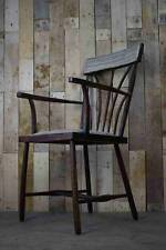 Retro Vintage Solid Wood Arts And Crafts Carver Hallway / Occasional Chair