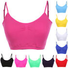 Seamless Basic Spandex Padded Cropped Sports Bra Cami Bralette Tank Top ONE SIZE