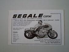 advertising Pubblicità 1980 MOTO SEGALE CORSE