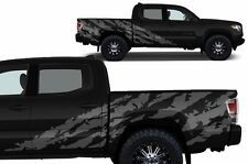 Custom Vinyl Decal SHRED Wrap Kit for 4D Short Bed 16-17 Toyota Tacoma TRD Gray