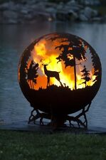 Custom Fire Pit - 90k BTU - Nature - Match Light - Moose Deer Duck - Heavy Duty