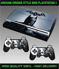 PLAYSTATION 3 CONSOLE STICKER BATMAN ARKHAM ORIGINS SKIN & 2 CONTROLLER SKINS
