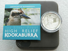 2014 Australia Kookaburra High Relief $1 One Dollar Silver Proof Coin Box Coa