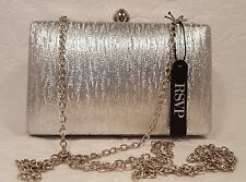 Purse Charming Charlie Silver Clutch RSVP Chain Strap Bling Diamond Evening Bag