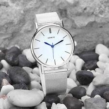 Geneve Armbanduhren Damen Women's Fashion Watch Elfenbein Band Quartz WristWatch