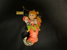 """My Little Kitchen Fairies """"Fairie In Stocking"""" Candy Cane,Ornament,2007, ENESCO"""