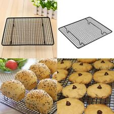 "10"" x 9"" Steel Icing Cooling Rack Sheet Wire Pan Grade Oven Kitchen Baking Tools"