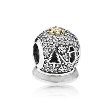 Pandora Retired 925/14k #USB794200 Black Friday 2015 Ltd slide bead charm  NWOT