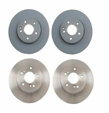 NEW Mercedes W124 Set of 2 Rear and 2 Front Disc Brake Rotors