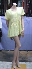 Christian Dior Balenciaga 34 Fabulous Pale Yellow Long Top Blouse 100% Pure Silk