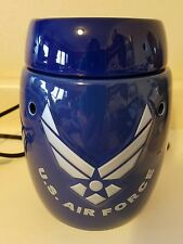 Scentsy US AIR FORCE Warmer, with bulb & wax melt, Retired, rare