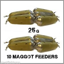 Maggot Feeders 10 Feeder Bomb 25g maggot Feeders
