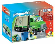 PLAYMOBIL 5679 Green Recycling Truck Car City Action Ages 4+ New Toy Boys Girls