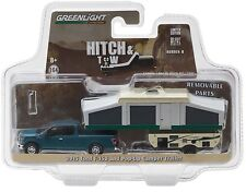 1:64 GreenLight *HITCH & TOW 8* 2015 F150 Pickup w/POP UP CAMPER TRAILER NIP!