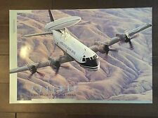 Glossy IN COLOR Lockheed P-3 AEW&C Aircraft Poster- circa 1990s