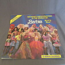 780B Mattel Calendrier 1991 Barbie 32 pages 30 X 30 CM