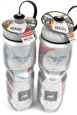 2-Pack Polar Insulated CARBON ORANGE 24oz Water Bottles Bike Dishwasher Safe