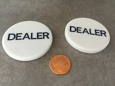 2 X Poker DEALER BUTTON USA SELLER