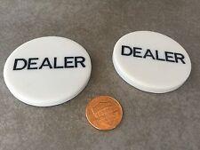 2 X Poker DEALER BUTTON USA SELLER