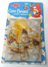 Vintage 1984 T.C.F.C. Care Bears ~ PARTY CHOCOLATE MOULDS ~ On Card