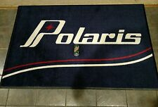 Polaris Snowmobile Vintage Retro logo shop rug 4'x6' tx colt