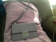 MICHAEL KORS LEATHER CROSSBODY CLUTCH SMALL GUSSET LILAC NWT $228 BEAUTY